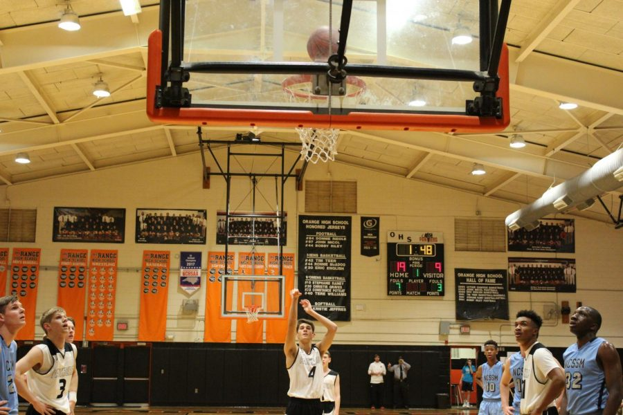 Mitch Portman sinks a free throw shot to get another point for the Panthers.