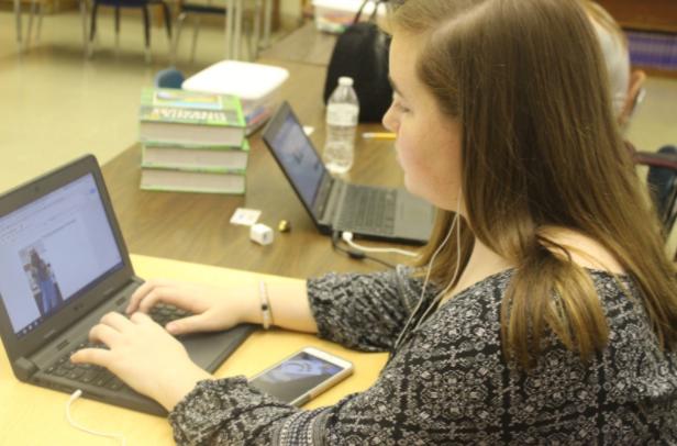 Senior Megan Bishop studies hard as she plans for her future at a HBCU.