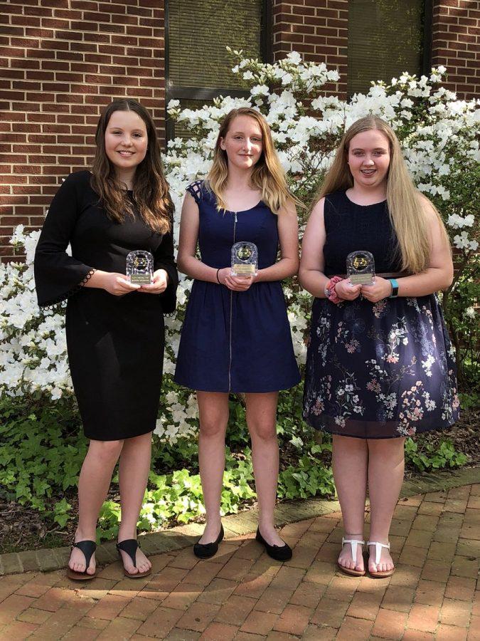 Hannah Leonard, Miranda Harris, and Ashley McDonald, receive superior ratings at theRaleigh Area Flute Association Solo and Ensemble Festival