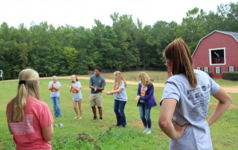 FFA officers, having fun before Kick-off Cookout.