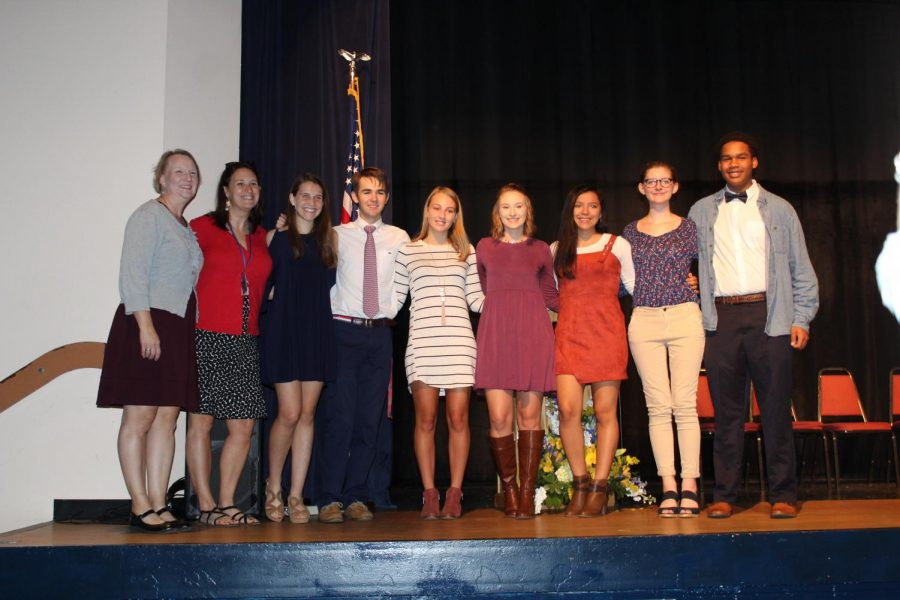 New members from the class of 2020 are inducted into Beta club.