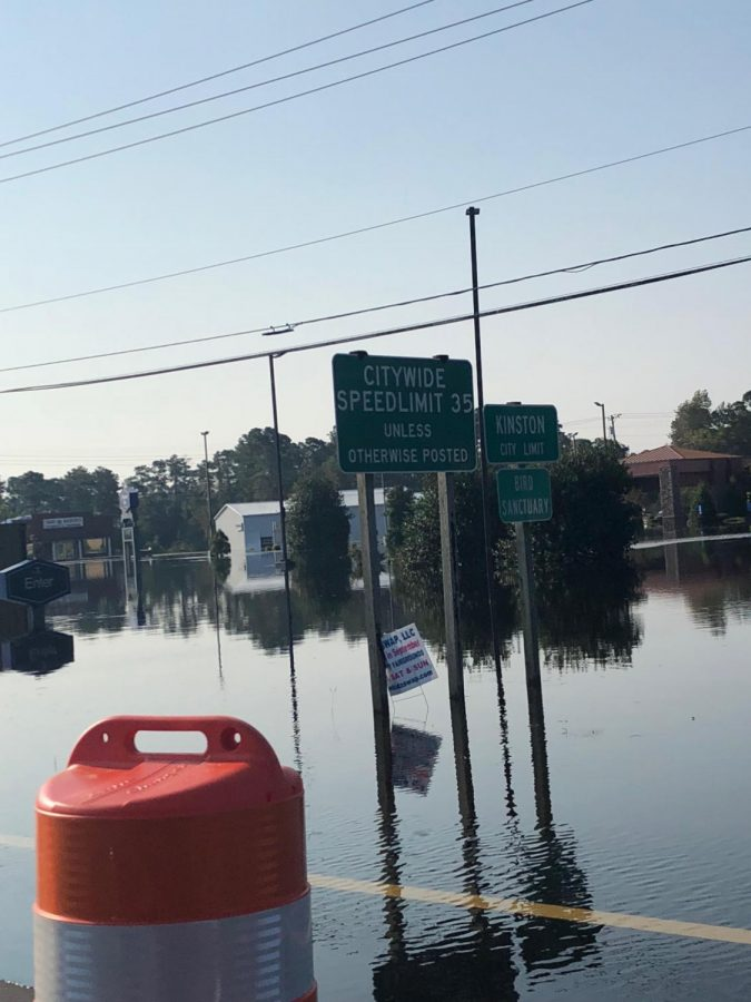 Hurricane Florence drowns towns in North Carolina.