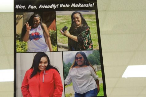 This is a poster of one of the girls that are running for Senior Homecoming court.