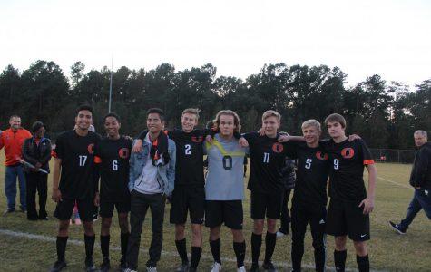 Here are the Seniors of the Orange Varsity Soccer team.