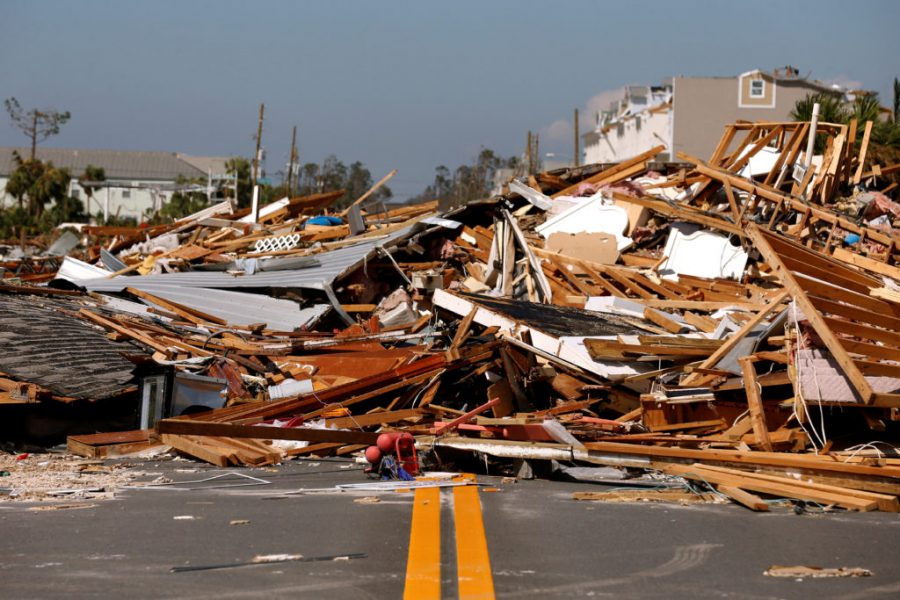 Rubble left in the aftermath of Hurricane Michael is pictured in Mexico Beach, Florida, U.S. October 11, 2018. REUTERS/Jonathan Bachman - RC1D8C850450