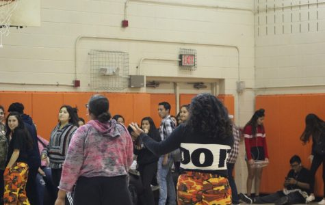 Latin dance club members part way with their seniors.